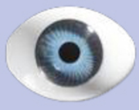 Blue 16MM Flat Backed Acrylic Eyes